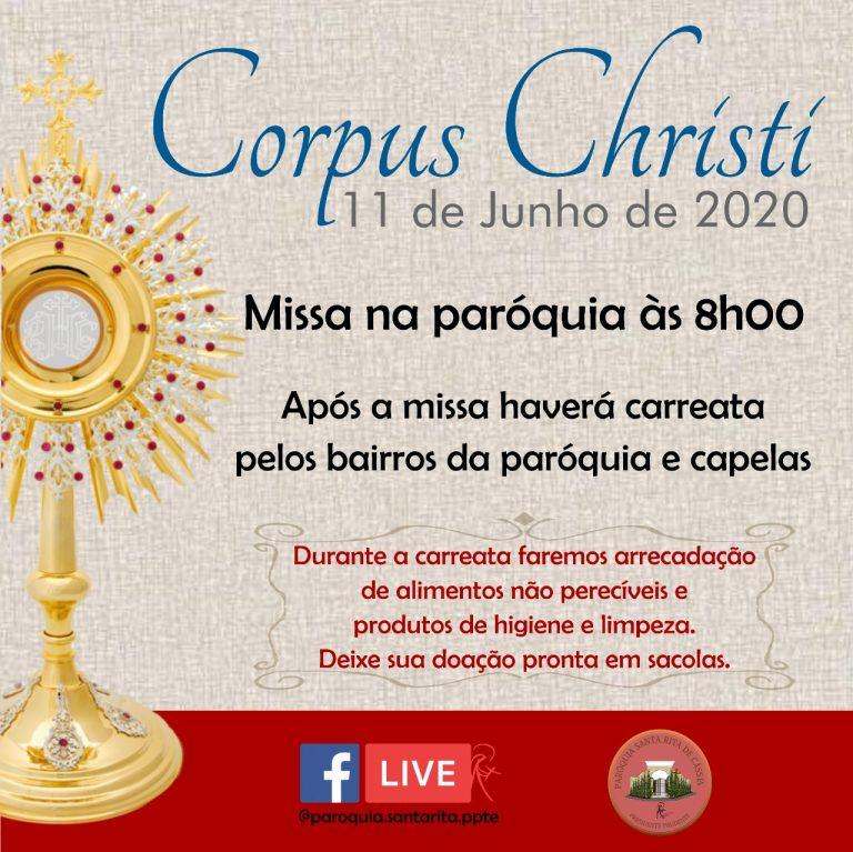 Missa e carreata de Corpus Christi