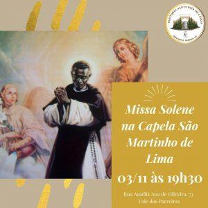 Missa Solene na Capela São Martinho