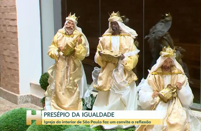 Reportagem da Globo sobre nosso presépio de Natal
