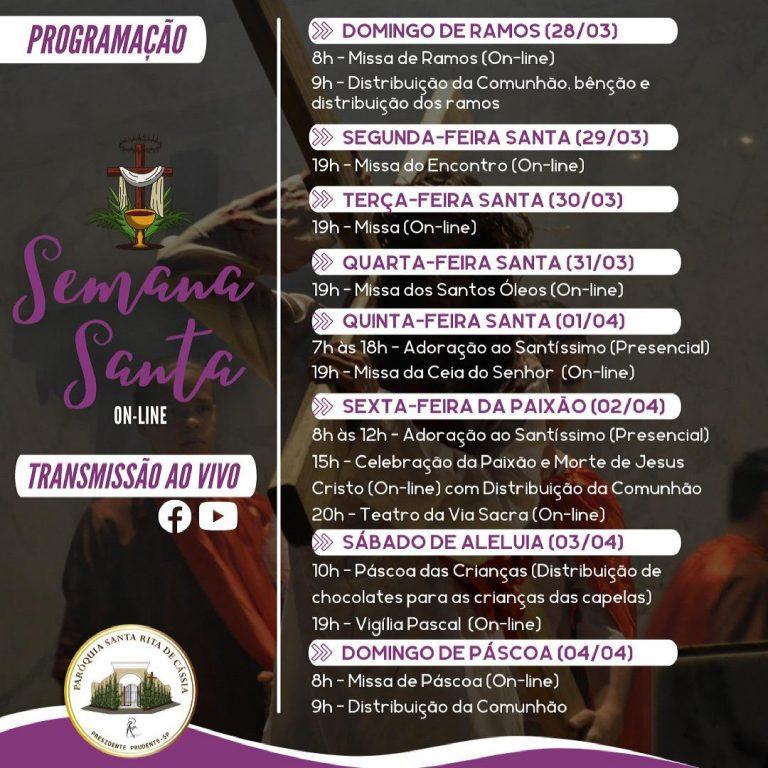 Read more about the article Programação para a Semana Santa