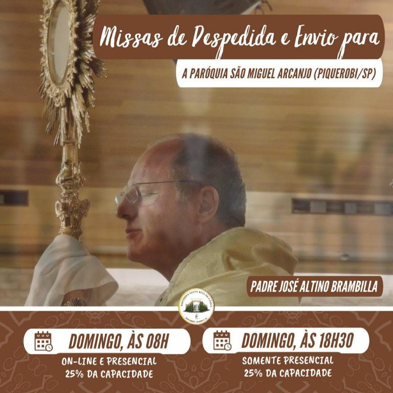 Read more about the article Missas de despedida do Padre Altino